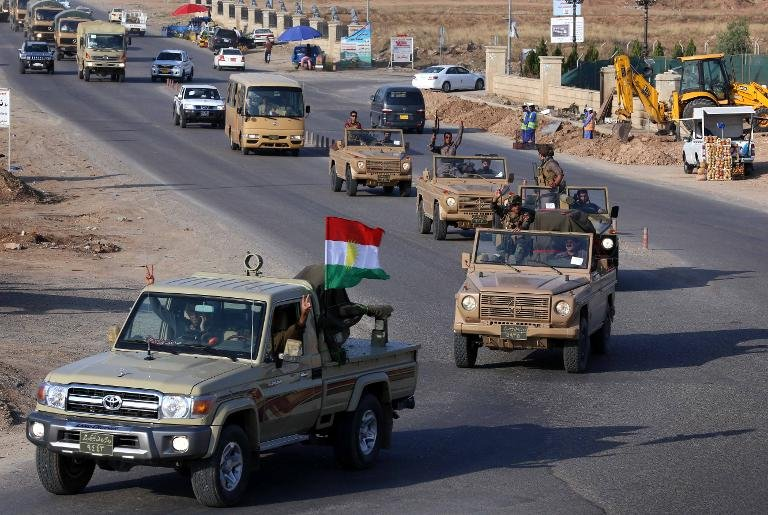 afp-first-iraqi-kurdish-fighters-bound-for-kobane-arrive-in-turkey
