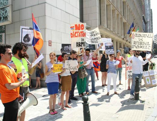 Photo of Բողոքի ցույց Բրյուսելում՝ ի պաշտպանություն Բաղրամյան պողոտայում պայքարող ՀՀ քաղաքացիների