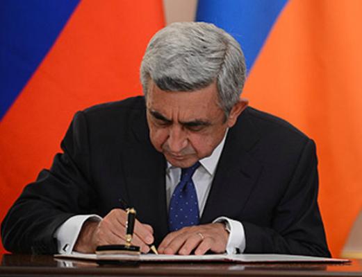 Photo of Սերժ Սարգսյանը հրամանագիր է ստորագրել սպաների զորակոչ անցկացնելու և զորացրում կատարելու մասին