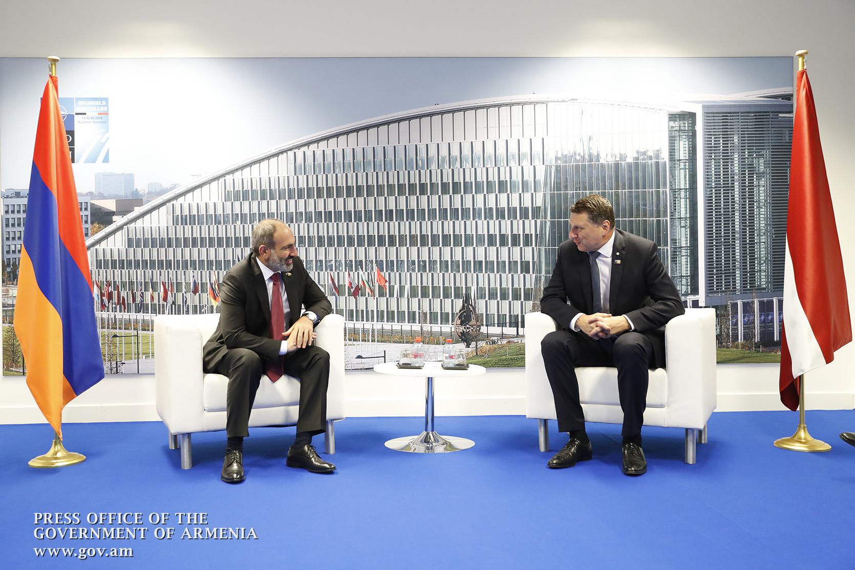 Photo of Նիկոլ Փաշինյանը Ռայմոնդս Վեյոնիսի հետ քննարկել է հայ-լատվիական հարաբերությունների հետագա զարգացմանն ուղղված հարցեր