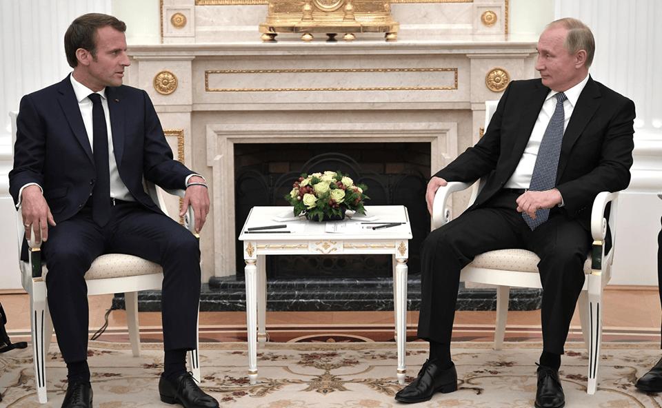 Photo of Телефонный разговор с Президентом Франции Эммануэлем Макроном