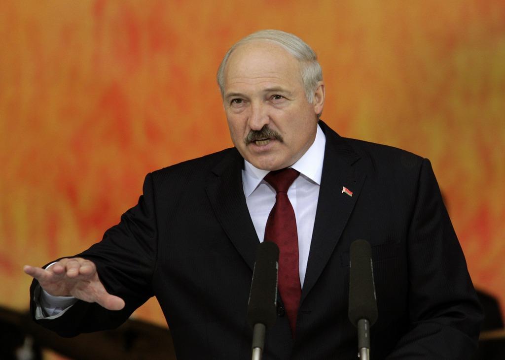 Belarus President Lukashenko speaks during the Dazhynki harvest festival in Gorki