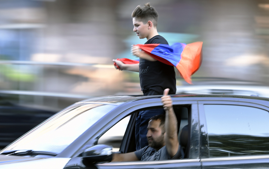 Митинг по случаю 100 дней премьерства Никола Пашиняна в Ереване