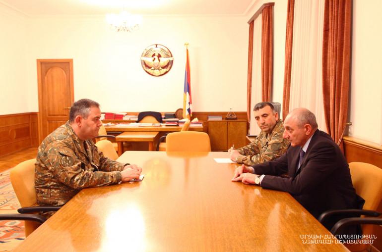 Photo of Встреча с начальником Генштаба Вооруженных сил Армении Артаком Давтяном