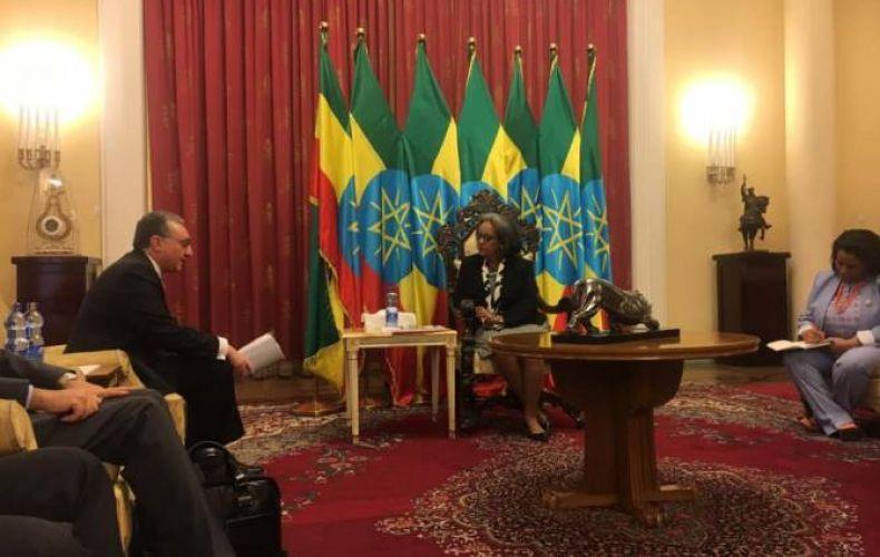 Photo of Արտգործնախարար Զոհրաբ Մնացականյանը հանդիպել է Եթովպիայի նախագահի հետ