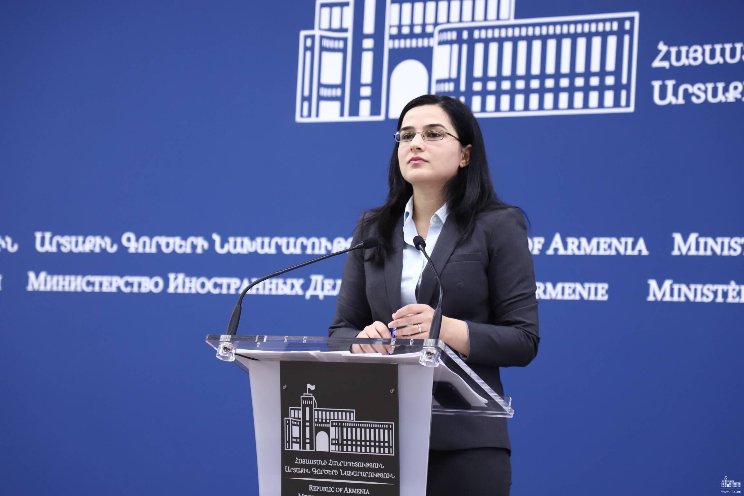 Photo of Комментарий пресс-секретаря МИД  РА по поводу  заявления министра иностранных дел Азербайджана после встречи в Москве