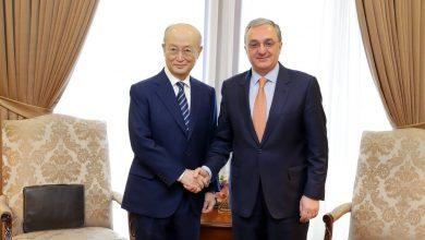 Photo of Զոհրաբ Մնացականյանի հանդիպումը ԱԷՄԳ գլխավոր տնօրեն Յուկիա Ամանոյի հետ