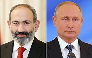 Photo of Никол Пашинян провёл телефонный разговор с Владимиром Путиным