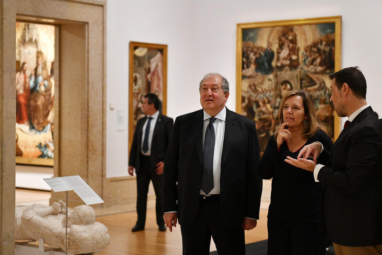 Photo of Նախագահ Արմեն Սարգսյանն այցելել է Լիսաբոնի Հնամյա արվեստի ազգային թանգարան