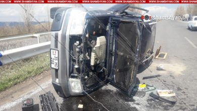 Photo of Խոշոր ավտովթար Գեղարքունիքի մարզում. մեքենան կողաշրջվել է. կա վիրավոր
