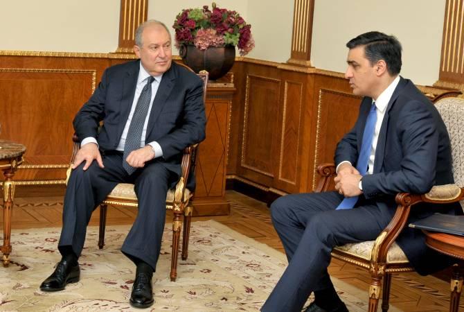 Photo of Նախագահ Արմեն Սարգսյանը հանդիպել է Հայաստանի մարդու իրավունքների պաշտպանի հետ