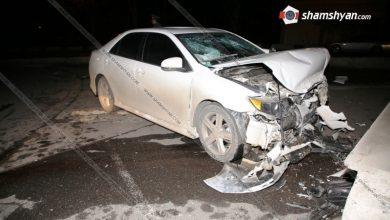 Photo of Երևանում. 25-ամյա վարորդը Toyota Corolla-ով բախվել է գետնանցումի պատին. կան վիրավորներ