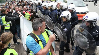 Photo of В Брюсселе произошли стычки между «желтыми жилетами» и полицией