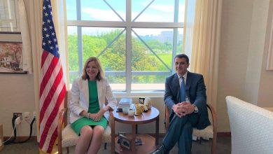 Photo of Դեսպան Վարուժան Ներսեսյանի հանդիպումը ԱՄՆ պետքարտուղարի տեղակալ Մարի Ռոյսի հետ