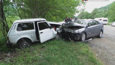 Photo of Խոշոր ավտովթար Տավուշի մարզում. ճակատ-ճակատ բախվել են Hyundai Solaris-ն ու Нива-ն. կա 5 վիրավոր