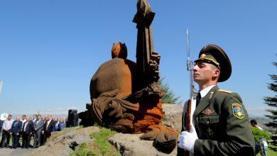 Photo of ՀՀ ՊՆ վարչական համալիրի տարածքում տեղադրվել է «Միասնություն» հուշակոթողը