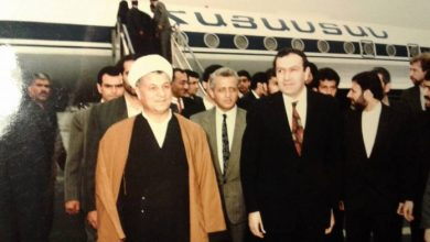 Photo of Տեր-Պետրոսյանը և Ռաֆսանջանին. մայիսի 7, 1992, Թեհրան
