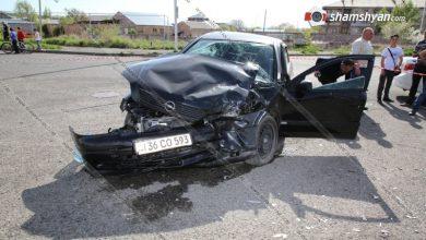 Photo of Խոշոր ավտովթար Շիրակի մարզում. Արթիկում՝ ՀՀ ՊՆ զորամասի դիմաց, բախվել են Opel-ն ու Honda-ն. Honda-ն էլ բախվել է կայանված Opel-ներին. կան վիրավորներ
