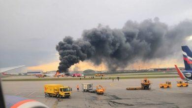 Photo of Пассажирский самолет загорелся при аварийной посадке в аэропорту Шереметьево