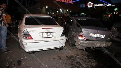 Photo of Խոշոր ավտովթար Երևանում. բախվել են 4 Mercedes-ները, Nissan-ն ու Hyundai-ն. օպերատիվ են գործել հրշեջ-փրկարարներն ու ոստիկանները