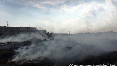 Photo of Հրդեհ Եռաբլուր պանթեոնի մոտակայքում. հրշեջները դեպքի վայրում են