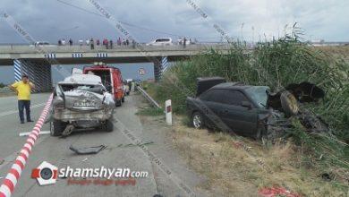 Photo of Ողբերգական ավտովթար Արարատի մարզում. բախվել են Opel-ը, Subaru-ն և ВАЗ 2103-ը. կա 1 զոհ, 4 վիրավոր