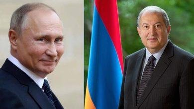 Photo of Высоко ценим Вашу роль в деле развития отношений между нашими странами – Владимир Путин поздравил Армена Саркисяна
