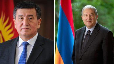 Photo of Основанные на принципах дружбы армяно-кыргызские отношения продолжат развиваться – Президента Саркисяна поздравил Сооронбай Жээнбеков