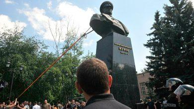 Photo of В Харькове повалили бюст маршала Жукова