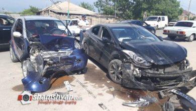 Photo of Խոշոր ավտովթար Արարատի մարզում. բախվել են 32-ամյա վարորդի Hyundai Elantra-ն և 31-ամյա վարորդի Hongsing-ը. կան վիրավորներ