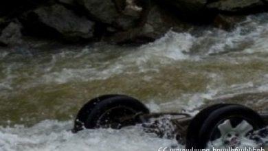 Photo of Մեքենան դուրս է եկել ճանապարհի երթևեկելի հատվածից և ընկել գետը. Վարորդն ինքնուրույն դուրս է եկել ավտոմեքենայից