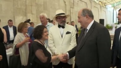Photo of «Ոսկե ծիրան» կինոփառատոնի մասնակիցների ընդունելություն՝ նախագահականում