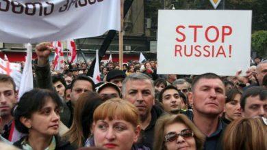 Photo of В антироссийских протестах Грузии участвуют азербайджанцы
