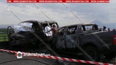 Photo of Шесть человек заживо сгорели в микроавтобусе в ДТП