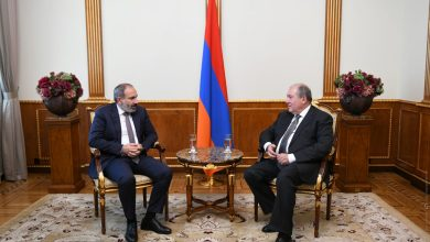 Photo of Կայացել է նախագահ Արմեն Սարգսյանի և վարչապետ Նիկոլ Փաշինյանի հերթական աշխատանքային հանդիպումը