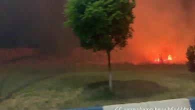 Photo of Իսակովի պողոտայում այրվում է խոտածածկ տարածք