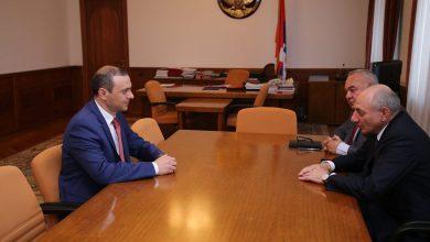 Photo of Секретарь Совета безопасности Армении Армен Григорян встретился с президентом Арцаха Бако Саакяном