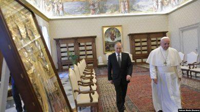 Photo of Владимир Путин встретился с папой римским Франциском