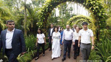 Photo of Никол Пашинян и Анна Акопян посетили Ботанический сад Сингапура, приняли участие в церемонии присвоения имени новому виду орхидеи