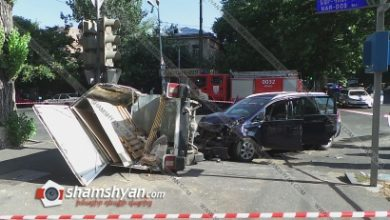 Photo of Խոշոր ավտովթար Երևանում. բախվել են Opel-ն ու IZH-ը. վերջինը կողաշրջվել է. կա վիրավոր