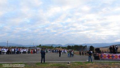 Photo of Праздничное мероприятие на территории Степанакертского аэропорта