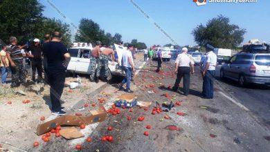 Photo of Խոշոր ավտովթար Արարատի մարզում․ բախվել են Lexus-ը, դատախազության Mercedes-ն ու գյուղմթերքով բարձված 06-ը․ կան վիրավորներ