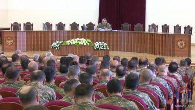 Photo of ՊԲ հրամանատարի ղեկավարությամբ տեղի է ունեցել խորհրդակցություն՝  նվիրված բարոյահոգեբանական ապահովման ոլորտում առկա հիմնախնդիրներին