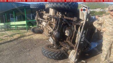 Photo of Խոշոր ավտովթար Տավուշի մարզում. ՀՀ ՊՆ N զորամասի մոտ ГАЗ 66-ը կողաշրջվել է. բոլոր 11 վիրավորները պայմանագրային զինծառայողներ են