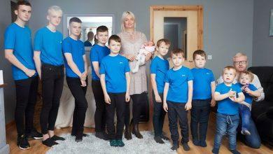 Photo of В семье, где десять мальчиков, родилась девочка