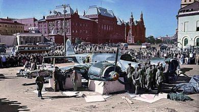 Photo of Фашистский самолёт в центре Москвы в июле 1941-го