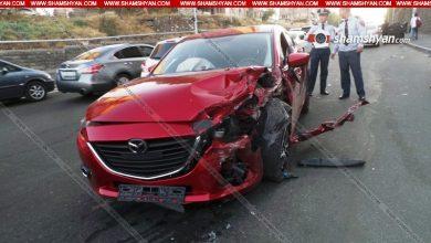 Photo of Նոր մանրամասներ՝ Երևանում տեղի ունեցած խոշոր ավտովթարից. 6 վիրավորներից մեկը ոստիկանության մայոր է