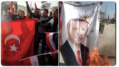 Photo of Թուրքիայի սահմանին սիրիացիները վառել են Էրդողանի նկարը