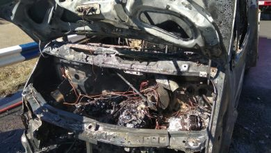 Photo of Գյումրի-Վանաձոր ավտոճանապարհին այրվել է ավտոմեքենա