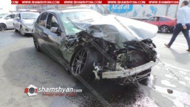 Photo of Խոշոր ավտովթար Երևանում. բախվել են BMW-ն ու Ford Transit-ը. կա 5 վիրավոր